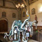 Exposition Serena Carone à l'Église de Saint-Aubin-des-Grois ©Viviane Sève