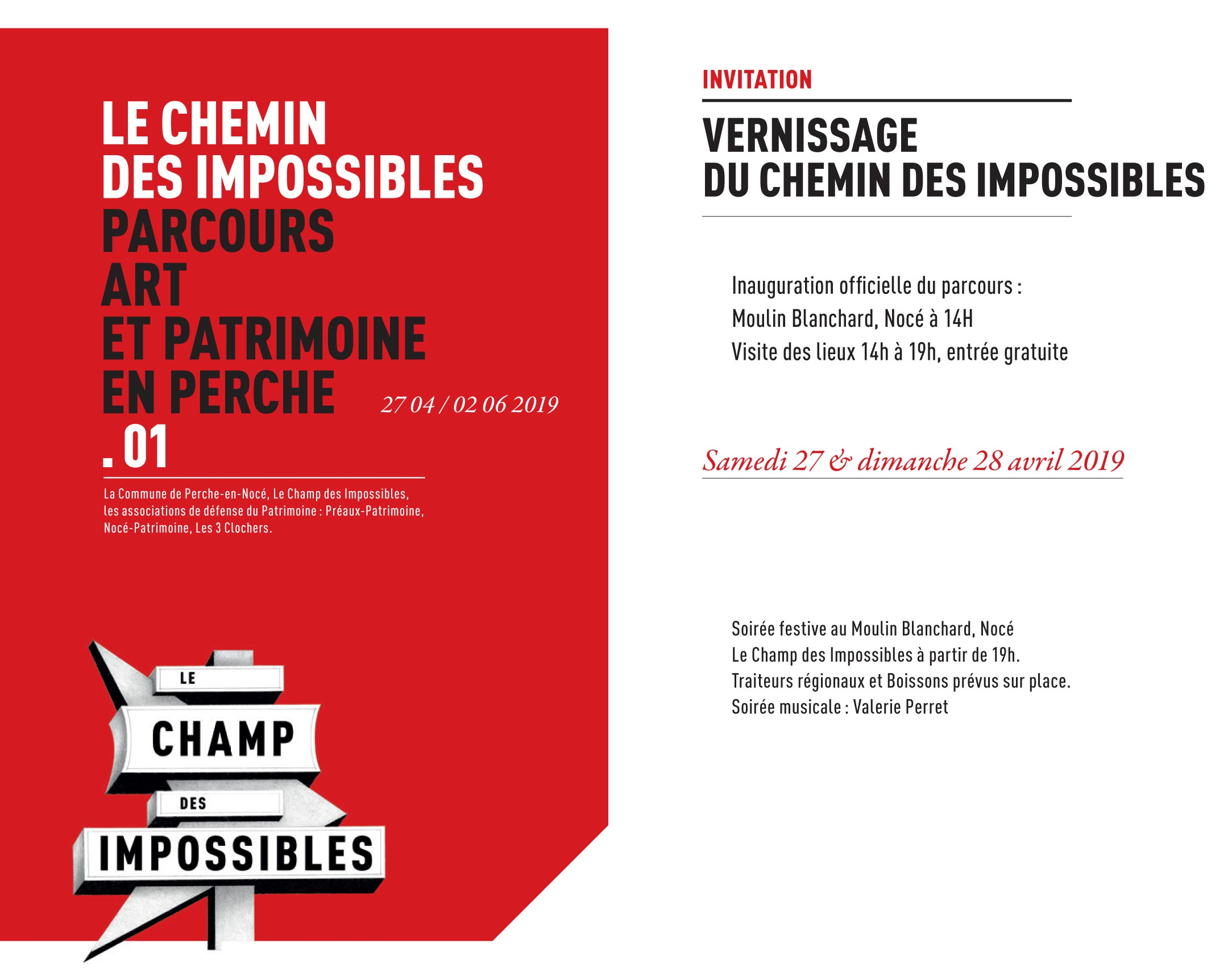 Vernissage du Chemin des Impossibles
