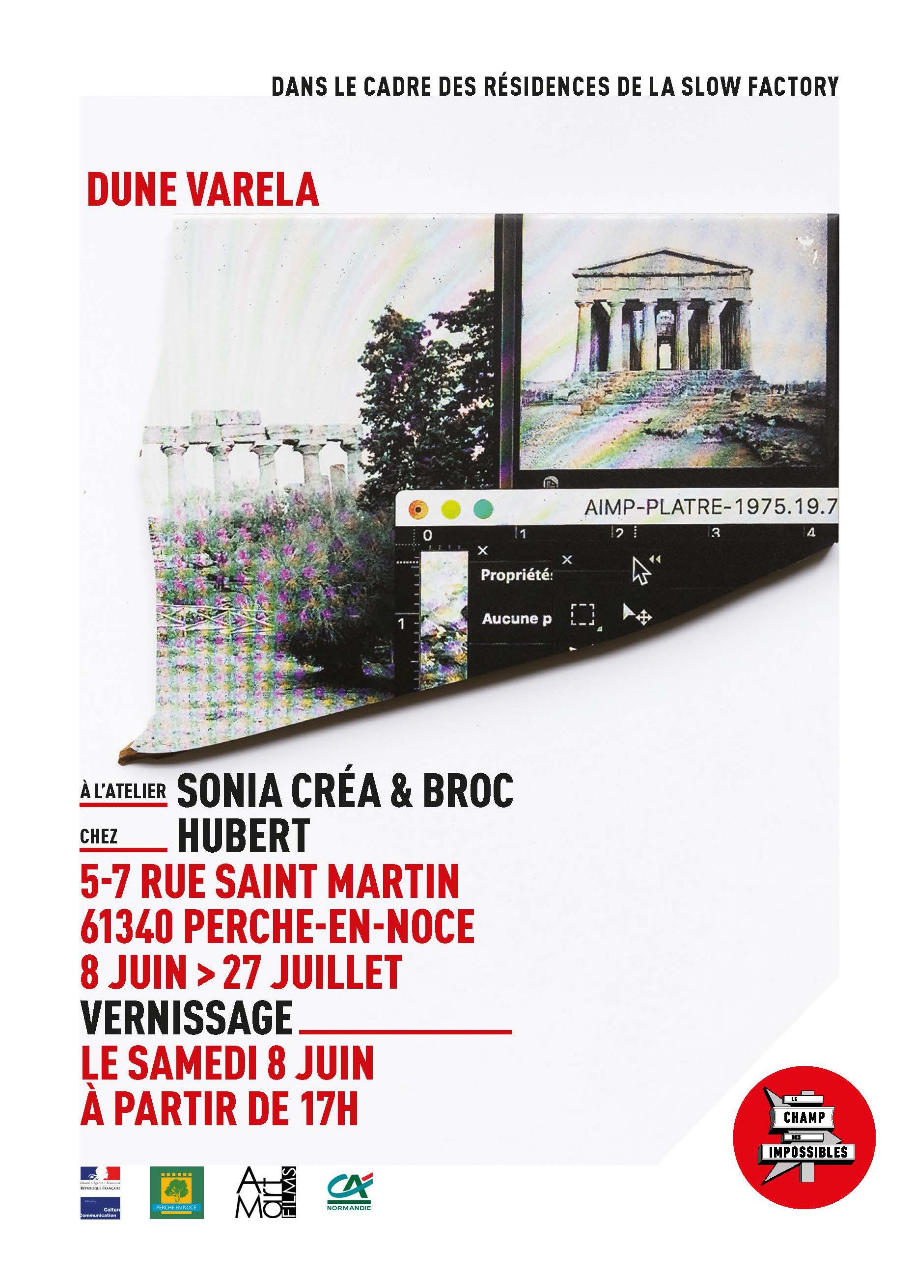 Dune Varela du 8 juin au 27 juin 2019 à l'Atelier de Sonia et Chez Hubert