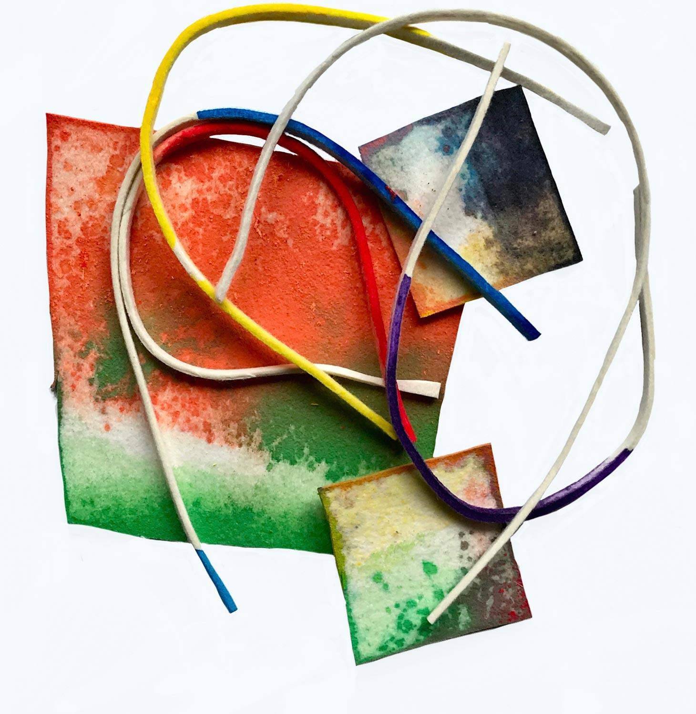 Composition, 2019 60 cm x 50 cm (Feutre teinté)© Françoise Paressant