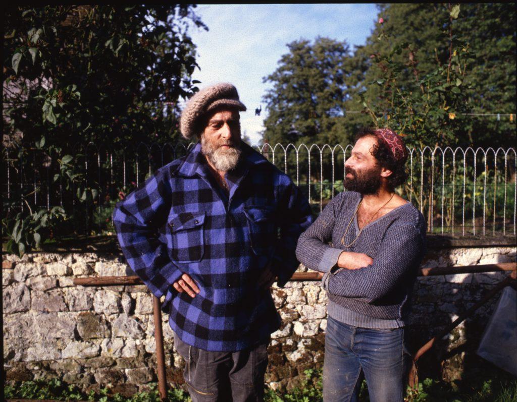 Friedensreich Hundertwasser et Piero Heliczer dans le Perche, années 80. © Pascal Barrier