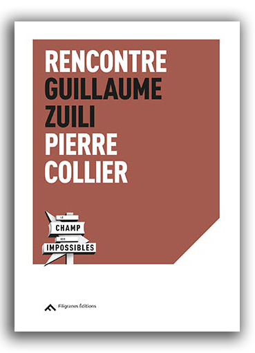 Rencontre Guillaume Zuili – Pierre Collier / Filigranes Éditions, 2019
